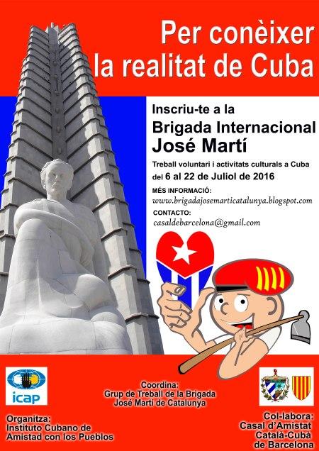 Cartel Brigada José Martí a Cuba 2016 B